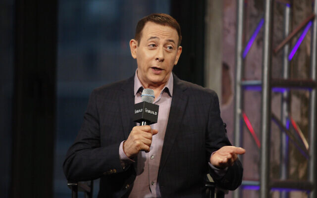 Actor Paul Reubens participates in AOL's BUILD Speaker Series to discuss his new film, 'Pee-wee's Big Holiday,' at AOL Studios in New York, March 25, 2016. (Andy Kropa/Invision/AP)