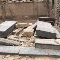 Burial plots at the historic Jewish cemetery in the Bassatine district in Cairo. (Courtesy)