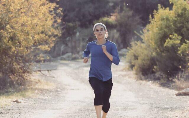 Beatie Deutsch during a training run. (Beatie Deutsch/Instagram)