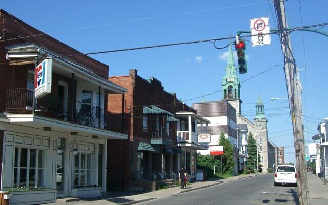 View of downtown Saint-Jean-sur-Richelieu, Quebec. (Guillaume Prévost/Wikimedia Commons via JTA)