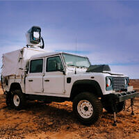 The Drone Dome air defense system mounted on a vehicle. (Rafael – Advanced Defense Systems)