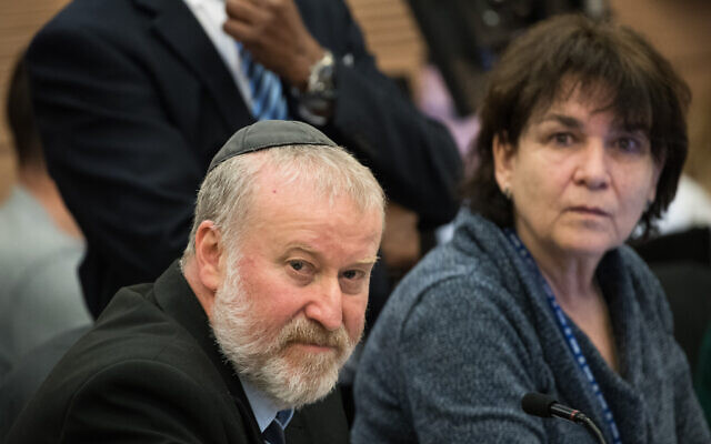 Attorney General Avichai Mandelblit attends a discussion at the House Committee in the Knesset, January 30, 2020. (Yonatan Sindel/Flash90)