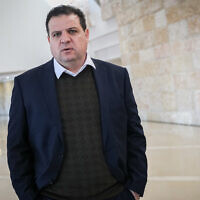 Joint List party leader MK Ayman Odeh at the Supreme Court in Jerusalem on February 5, 2020. (Yonatan Sindel/Flash90)