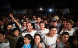 Israelis protest in Jerusalem in favor of annexing the Jordan Valley and other parts of the West Bank, February 13, 2020. (Yonatan Sindel/Flash90)
