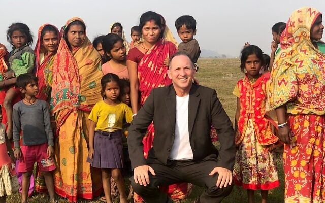Gil Haskel, head of MASHAV, Israel's Agency for International Development Cooperation, in Nepal. (MASHAV)
