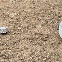 Suspected airborne explosive device found in Merhavim Regional Council, February 7, 2020 (Yariv Hajbi)