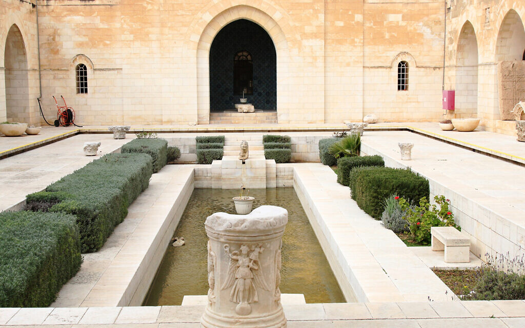 The inner courtyard of the Rockefeller Museum, the first structure in Israel to be built specifically as a museum, opened in 1938. (Shmuel Bar-Am)
