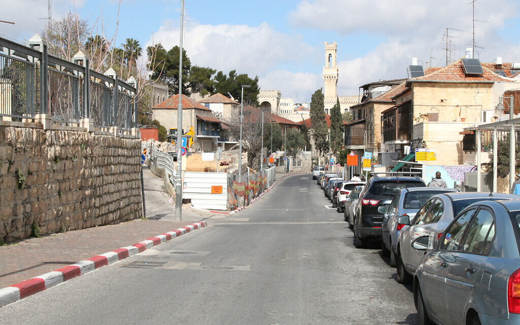 Shivtei Yisrael Street in Jerusalem, just outside the Old City walls. (Shmuel Bar-Am)