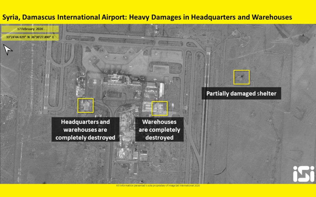 Satellite images show major damage at Damascus airport following airstrikes