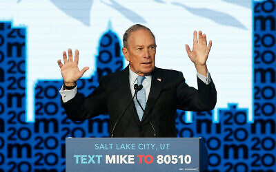 Democratic presidential hopeful and former New York City Mayor Mike Bloomberg speaks during a campaign event, Feb. 20, 2020, in Salt Lake City. (AP Photo/Rick Bowmer)