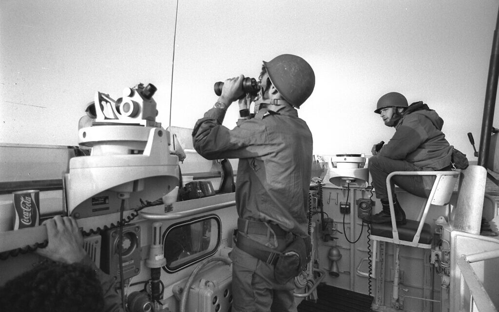 The crew of a missile boat at sea during the Yom Kippur War, October 11, 1973. (Alon Reininger/GPO)