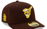 The logo of the San Diego Padres' newly unveiled spring training cap spurred controversy. (MLBshop.com via JTA)