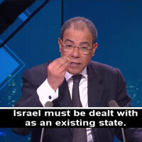 French-Moroccan Prof. Youssef Chiheb in an interview with France 24 Arabic TV on February 12, 2020, in footage transcribed by the Middle East Media Research Institute. (YouTube screenshot)