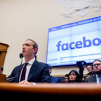 Facebook CEO Mark Zuckerberg testifies before a House Financial Services Committee hearing on Capitol Hill in Washington, October 23, 2019. (AP Photo/Andrew Harnik)