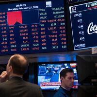 The floor of the New York Stock Exchange, on February 27, 2020. (AP/Craig Ruttle)