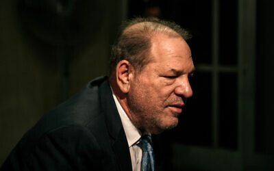 Harvey Weinstein enters New York City Criminal Court on February 24, 2020, in New York City. (Scott Heins/Getty Images/AFP)