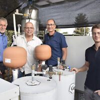 From left to right: Technion researchers Professor David Broday, Professor Eran Friedler, Ilan Katz and Liron Houber. (Courtesy/Technion)
