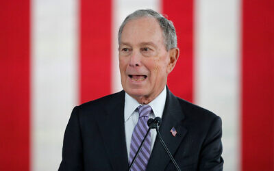 Democratic presidential candidate and former New York City mayor Mike Bloomberg speaks at a campaign event in Raleigh, North Carolina, February 13, 2020. (AP Photo/Gerald Herbert)
