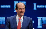 Michael Milken leads a discussion at the Milken Institute Global Conference, April 30, 2018, in Beverly Hills, California. (AP Photo/Jae C. Hong)
