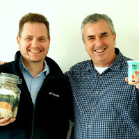 Steve Grun, CEO of Yofix Probiotics Ltd, left, and co-founder Ronen Lavee (Courtesy)