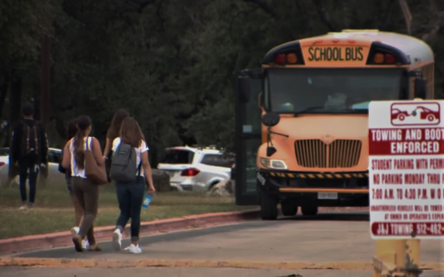 Illustrative: Students outside Anderson High School in Austin, Texas (YouTube screenshot)