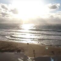 Betzet Beach in northern Israel. (YouTube screenshot)