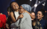 Eden Alene and her mother Zehava Varkanesh, after she was announced the winner of 'HaKochav Haba,' which makes her Israel's representative to the 2020 Eurovision (Courtesy HaKochav Haba)