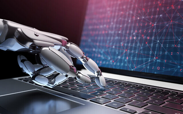 An illustrative image of robot hackers; the use of artificial intellicence in cyber security (Iaremenko; iStock by Getty Images)