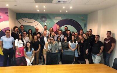 The Qualitest team in Petah Tikva, February 2020 (Courtesy)