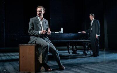 Luke Thallon (left, as Leo) and Sebastian Armesto (Nathan) in Tom Stoppard's Leopoldstadt (Marc Brenner)