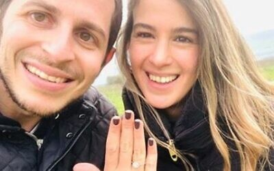Gilad Shalit and his fiancee Nitzan Shabbat (Instagram)