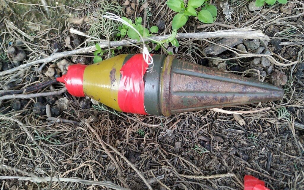 Balloon carrying apparent RPG warhead flown into Israel from Gaza