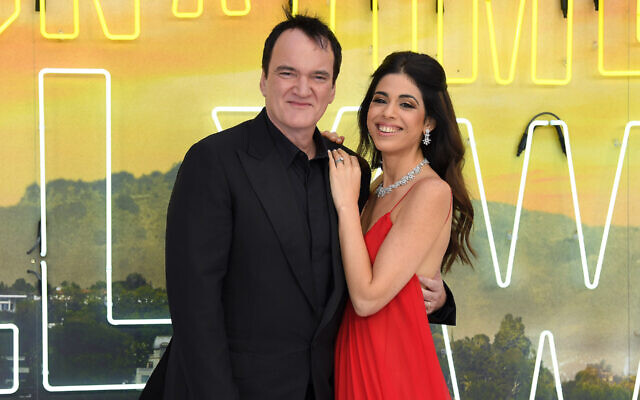 Quentin Tarantino and Daniella Pick attend the 'Once Upon a Time... In Hollywood' UK premiere in London, July 30, 2019. (Karwai Tang/WireImage/Getty Images/via JTA)