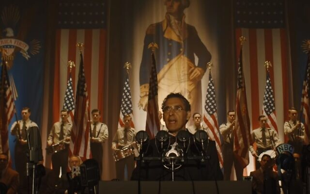"John Turturro in a scene from ""The Plot Against America."" (Screen capture: YouTube/HBO)"