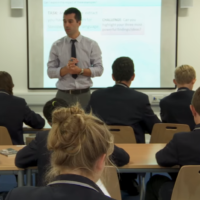Illustrative: Students at school in Britain (video screenshot)