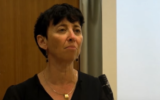 Prof. Vered Noam of Tel Aviv University, the 2020 laureate of the Israel Prize in Talmud studies, the first woman to receive the prestigious award (YouTube screenshot)