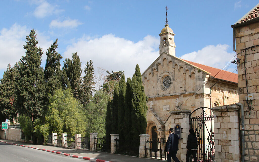 St. Paul's Church, built by British emissaries in 1873, on what would become Jerusalem's Shivtei Yisrael Street. (Shmuel Bar-Am)