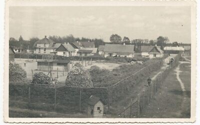 Taken from a perimeter guard tower in 1943, part of the Nazi death camp Sobibor is seen, including the buildings of the officers' camp and 'Camp I' for Jewish prisoners (USHMM Sobibor Perpetrator Collection)