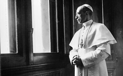 This photo taken in the 1950s provided by Italian news agency Ansa on February 23, 2020 shows Pope Pius XII in the Vatican. (STRINGER/ANSA/AFP)