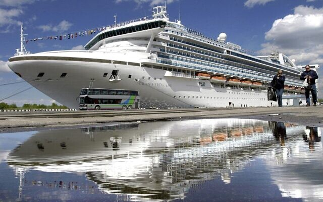 Illustrative: The Grand Princess cruise ship in St Petersburg port, 24 May 2004. (INTERPRESS/AFP)