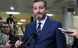 In this file photo taken on January 23, 2020 US Senator Ted Cruz (R-TX) speaks during a press conference during a break in the Senate impeachment trial of US President Donald Trump (ANDREW CABALLERO-REYNOLDS / AFP)