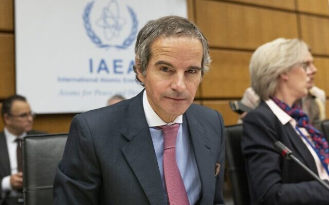 Rafael Grossi, director general of the International Atomic Energy Agency, prepares for the opening of the IAEA  Board Meeting at the agency's headquarters in Vienna, Austria on March 9 , 2019. (Joe Klamar/AFP)