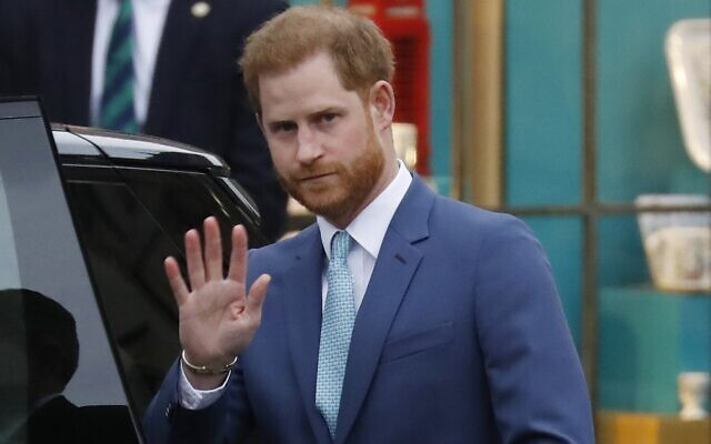 Britain's Prince Harry, Duke of Sussex leaves after attending the annual Commonwealth Service at Westminster Abbey in London on March 9, 2020. (Tolga Akmen/AFP)