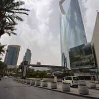 A photo taken on March 18, 2020, shows empty streets in Riyadh amid drastic measures to contain the novel coronavirus in the desert kingdom. (FAYEZ NURELDINE / AFP)