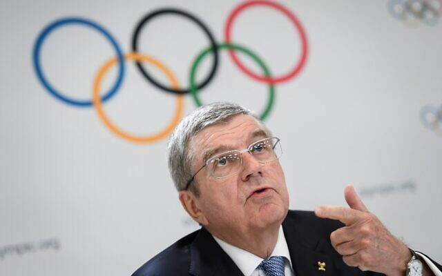 International Olympic Committee (IOC) President Thomas Bach attends a press conference closing an Olympic session in Lausanne, on January 11, 2020. (FABRICE COFFRINI / AFP)