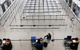 A sparse international departure terminal at John F. Kennedy Airport (JFK) as concern over the coronavirus grows on March 7, 2020 in New York City. (Spencer Platt/Getty Images/AFP)