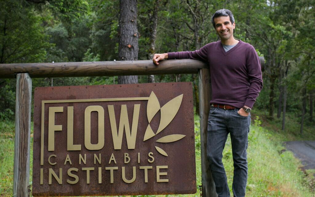 Michael Steinmetz is the Jewish entrepreneur behind Flow Kana and the Flow Cannabis Institute. (Courtesy of Flow Kana/ via JTA)