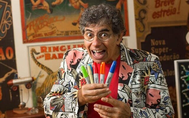 Daniel Azulay, an influential Brazilian children's entertainer and educator. (Daniel Azulay Facebook via JTA)
