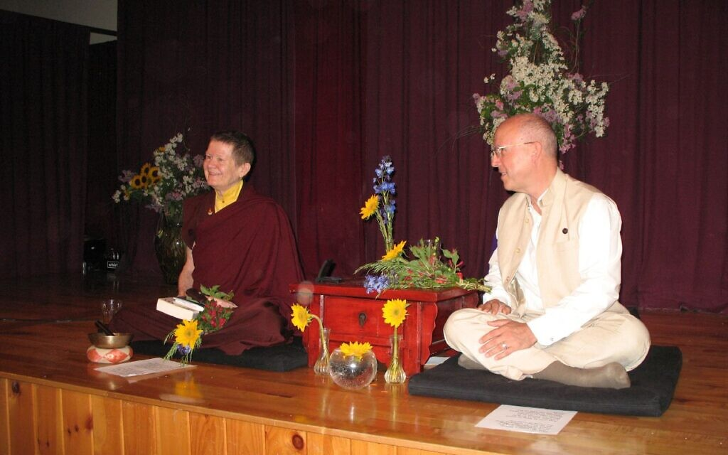 Pema Chodron, formerly Deirdre Bloomfield-Brown, left, with president of Buddhist organization Shambhala, Richard Reoch, May 2007. (CC SA-BY-2.0/ cello8)