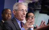 Dr. Anthony Fauci, director of the US  National Institute of Allergy and Infectious Diseases, speaks during a briefing on coronavirus in the Brady press briefing room at the White House, March 14, 2020, in Washington. (AP Photo/Alex Brandon)